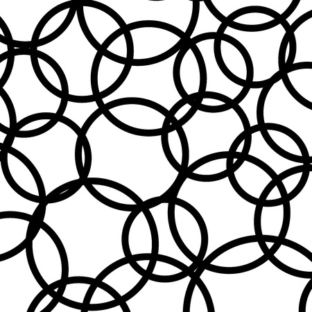 Abstract black circles pattern illustration. Isolated on white background.