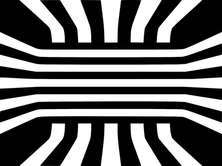 Abstrakte dreidimensionale dreidimensionale geometrische Würfelraum-Musterillustration der optischen Täuschung Illustration