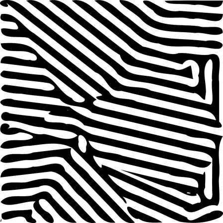 Abstract black wide lines pattern background illustration isolated on white Illustration