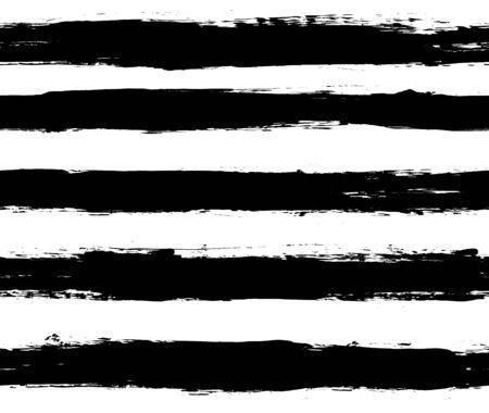 Black and white repeatable paintbrush stripes pattern Standard-Bild