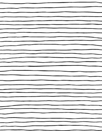 Thin modern wiggly black zebra pattern paintbrush stripes
