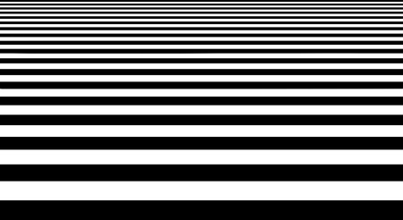 Abstract black and white stripes floor geometrical shape isolated on white background