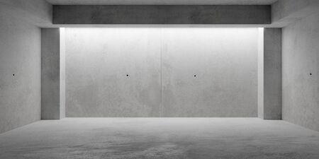 Abstract empty, grunge, modern concrete room with pillars - industrial interior background template, 3D illustration Reklamní fotografie