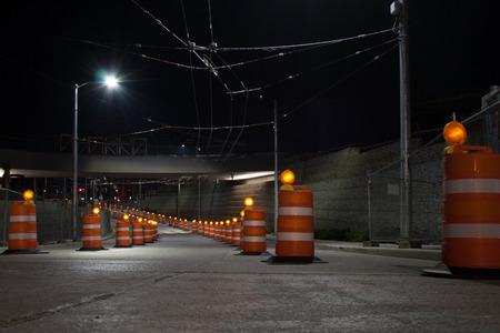 nite: Slow down  Seattle, Washington - 2015 Stock Photo