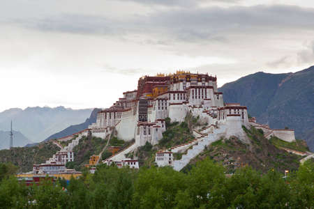 Potala palace and cloudscape blue sky in Lhasa ,Tibet