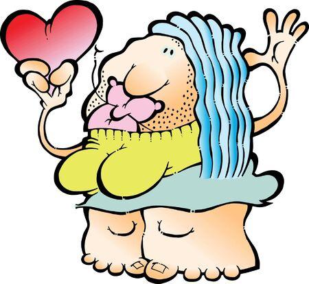 suitor: Un divertente, donna romantica che offre il suo cuore