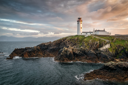 This is a picture of Fanad light house on the north coast of Ireland.