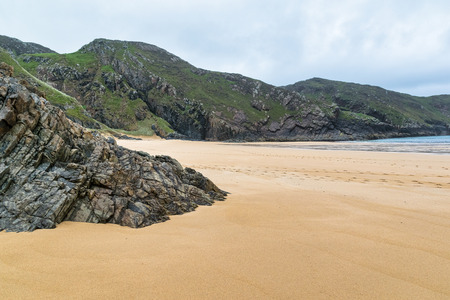 A sandy beach in Ireland with hardly a mark on it.