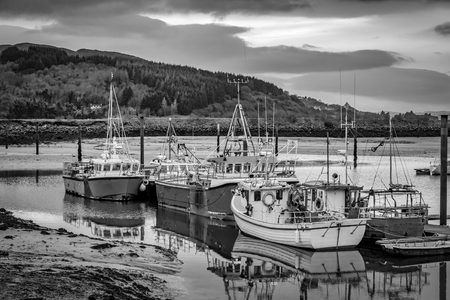 Fishing boats in a harbour in Ireland