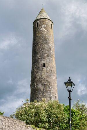 Killala early christian Round Tower in county Mayo Ireland Stock fotó