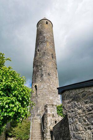 Killala early christian Round Tower in county Mayo Ireland
