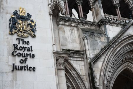 London, UK - Jan 16, 2020: The front of The Royal Courts of Justice in London Editorial