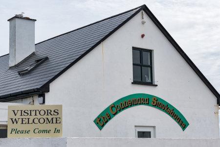 Connemara, Ireland- Jul 21, 2020: The Connemara Smokehouse on the west coast of County Galway in Ireland