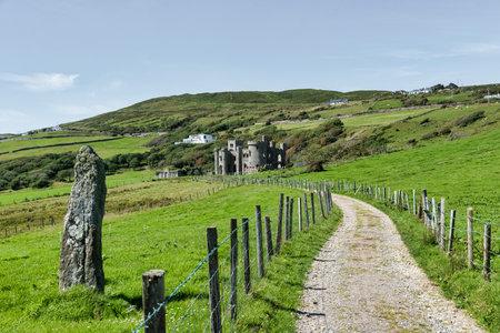 Clifden, Ireland- Jul 20, 2020: The ruins of Clifden Castle  in County Galway, Ireland Sajtókép