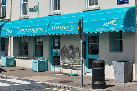 Clifton, Ireland- Jul 20, 2020: the Whitethorn Gallery in Clifton in County Galway, Ireland