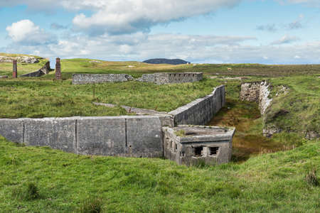The ruins of Lenan Head fort on the north coast of County Donegal Ireland.  It was used to guard Lough Swilly