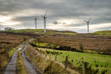Remote windmill turbines in Ireland
