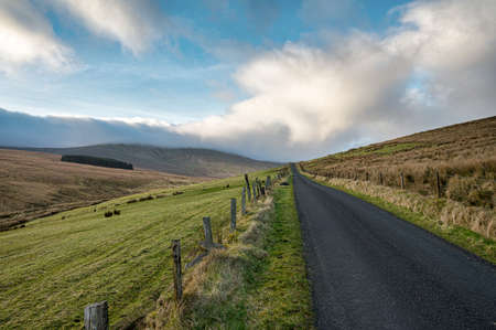 Remote mountatin road going over the Sperrin Mountains in Northern Ireland