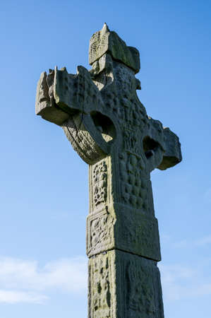 Ardboe High Cross in northern Ireland on the shore of Lough Neagh