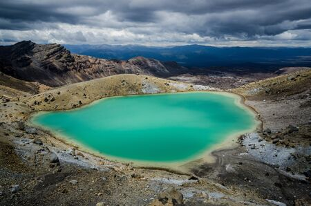 crater highlands: Esmeralda Lagos, Parque Nacional de Tongariro, Nueva Zelanda