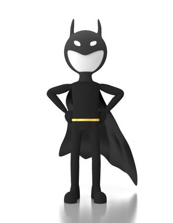 3d personne dans un costume de super-h�ros semblable � Batman.