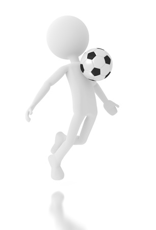 3d person soccer player with a ball  Stock Photo