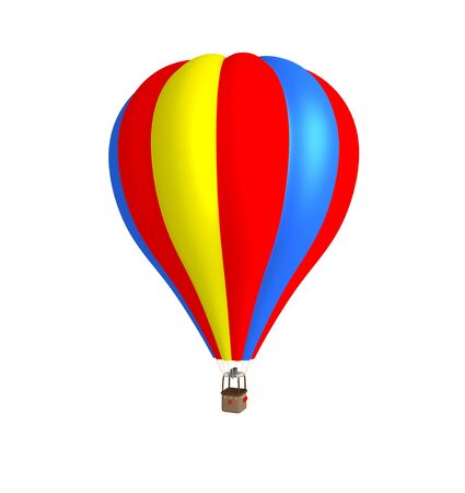 3d hot air balloon. photo