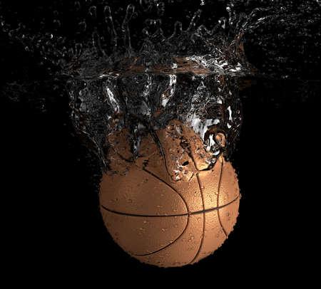 Basket-ball tombe dans l'eau