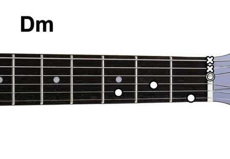 chords: Guitar Chords Diagrams - Dm. Guitar chords diagrams series. Stock Photo