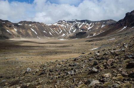 crater highlands: Mount Tongariro, Tongariro National Park, New Zealand