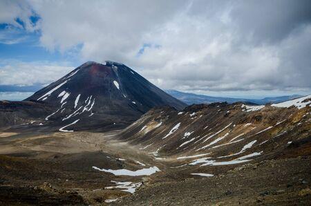 tongariro: Mount Ngauruhoe and Mount Tongariro, Tongariro National Park, New Zealand