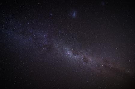 The Milky Way in the night sky Standard-Bild