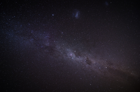 The Milky Way in the night sky Stock Photo