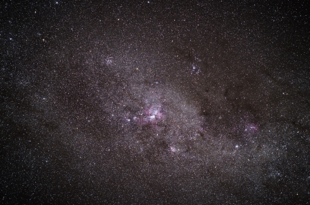Real shot of a galaxy in the night sky photo