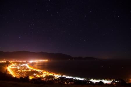 Kaikoura la nuit avec les �toiles rougeoyantes, Nouvelle-Z�lande