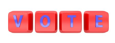 VOTE written in blue on red computer keys Stock Photo - 15598387