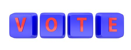 VOTE written in red on blue computer keys Stock Photo - 15598390