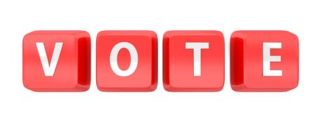 VOTE written in white on red computer keys  Stock Photo - 15598386