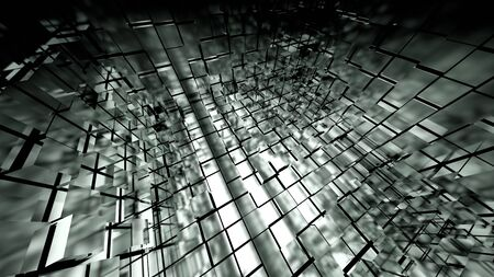 3d glass cubes forming a cube