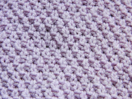 purl: Purple knitted pattern spokes Pearls