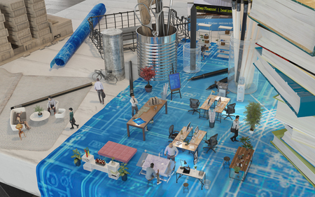 shrunken: Architects Office Augmented Reality Design
