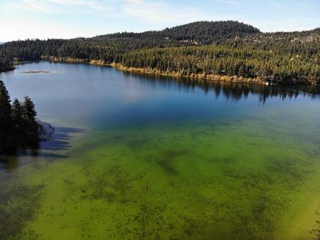 Lake drone shot