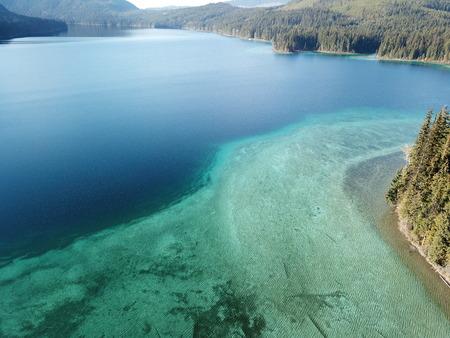 drone lake shot