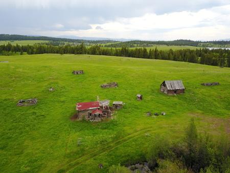 farm houses Banco de Imagens