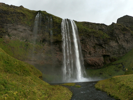 Waterfall over the cliff