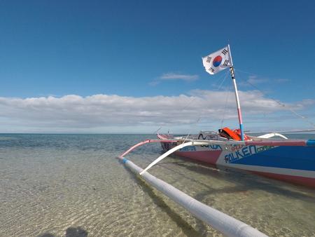 Boat on the sandbar