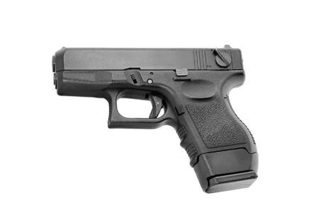 hand gun: Hand gun isolated on white