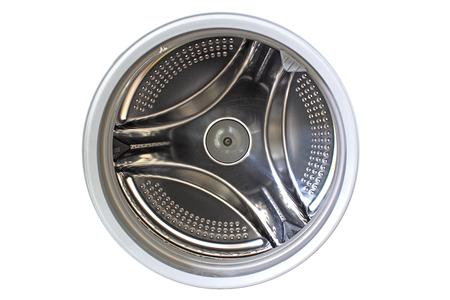 laundry machine: inside washing machine tank isolated on white
