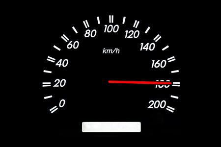 car speed: car speedometer image, fast speed Stock Photo