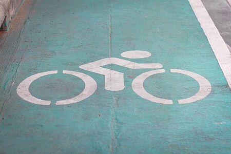 lane: bicycle lane road sign